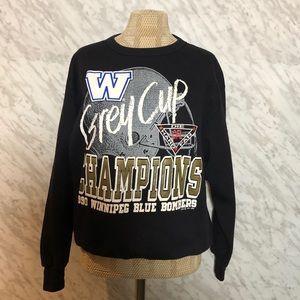 CFL 1990 Winnipeg Blue Bombers Grey Cup Sweater